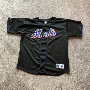 Vintage Russel New York Mets Baseball Jersey Black